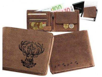 Kožená peněženka šířka Sv.Hubert
