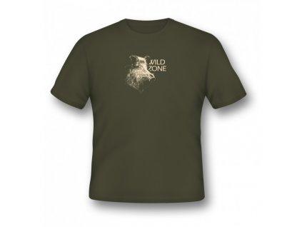 WildZone triko zelené divočák hlava