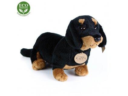 plyšák jezevčík hladkosrstý sedící černý 30cm