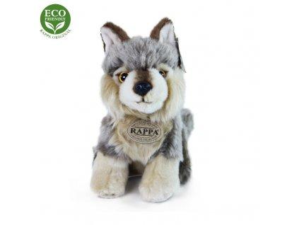 plyšák vlk sedící 18cm