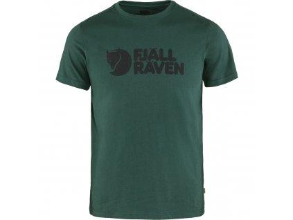 Fjällraven triko Logo zelené