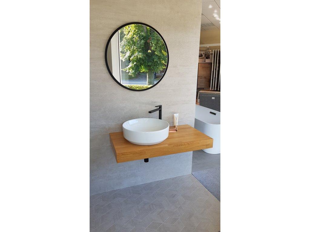 Stofi umyvadlová deska s umyvadlovou miskou Green průměr 48 cm včetně zrcadla, baterie a příslušenství