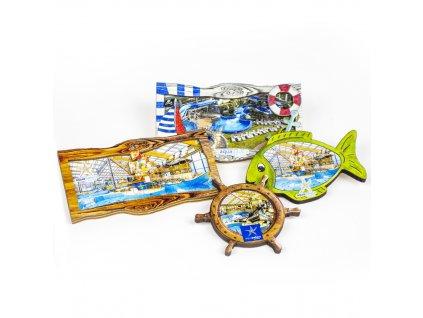 Magnet dřevěný s logem Aquapalace Praha