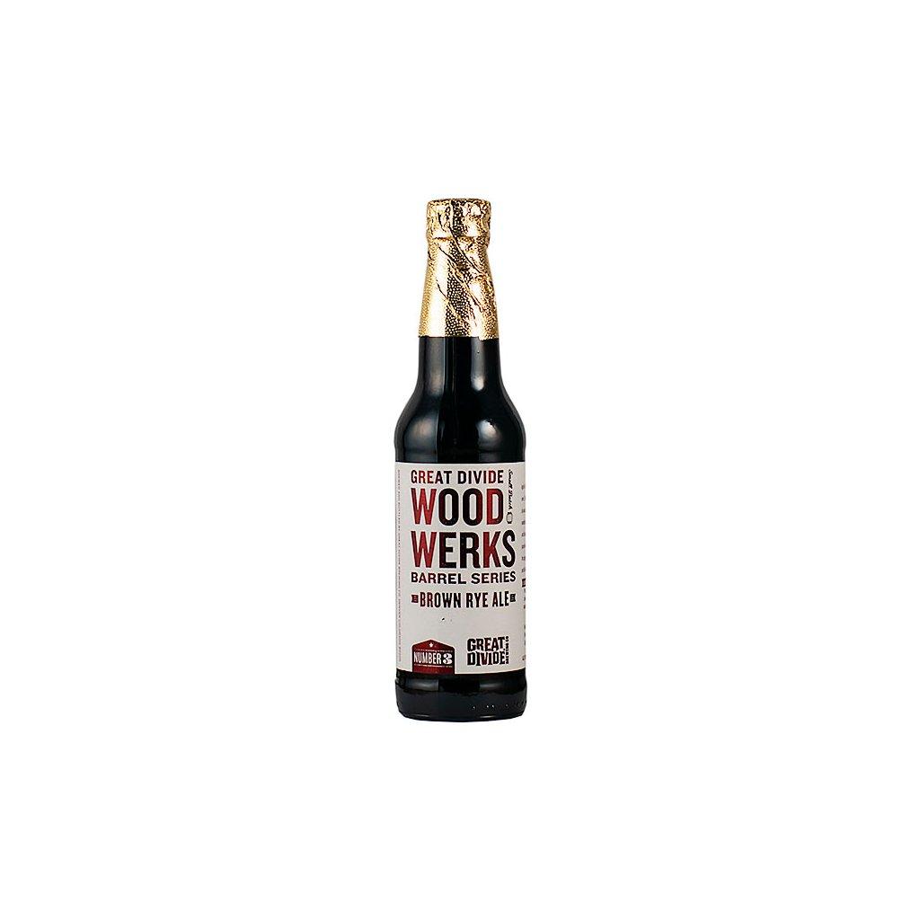 Great Divide WoodWerks #3 Brown Ale 0,355  Bourbon Barrel Aged Brown Rye Ale