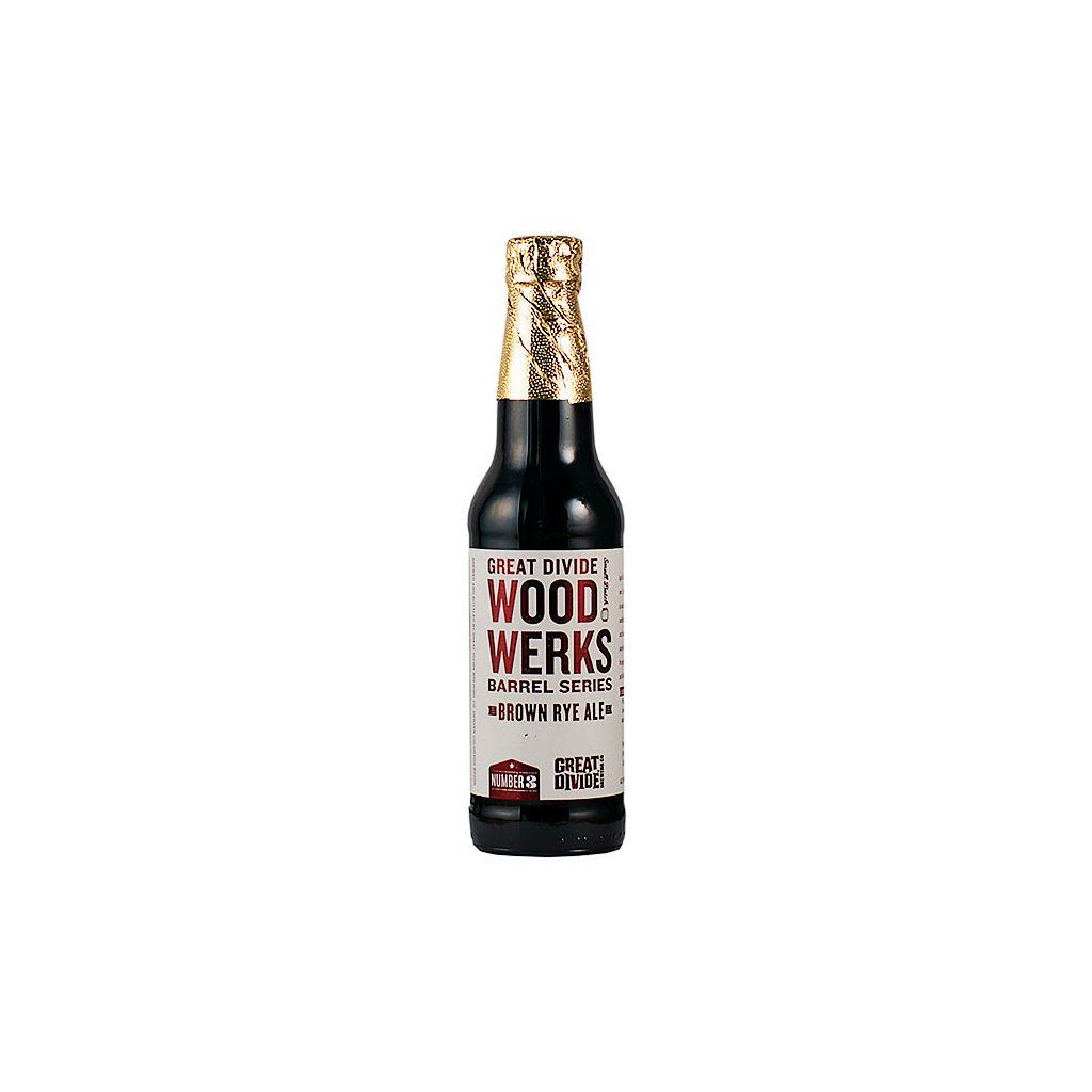 Great Divide WoodWerks #3 Brown Ale 0,355l  Bourbon Barrel Aged Brown Rye Ale