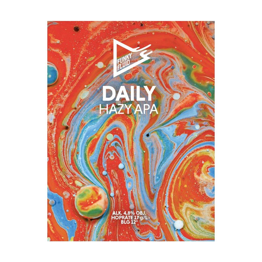 Funky Fluid Daily HazyAPA label