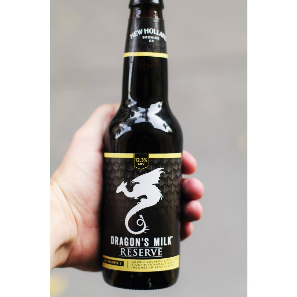 New Holland Dragon's Milk Reserve Double Vanilla Double Bourbon Barrel Aged 0,355l  Bourbon Barrel Aged Imperial Stout w/ Madagascar & Indonesian Vanilla