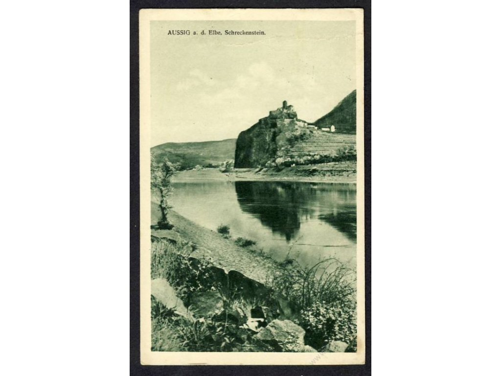 69 - Ústní nad Labem, pohled na Střekov (Aussig, Schreckenstein), cca 1927