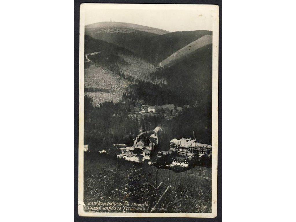 06 - Bruntálsko, lázně, Karlova Studánka s Pradědem (Bad Karlsburg), cca 1935
