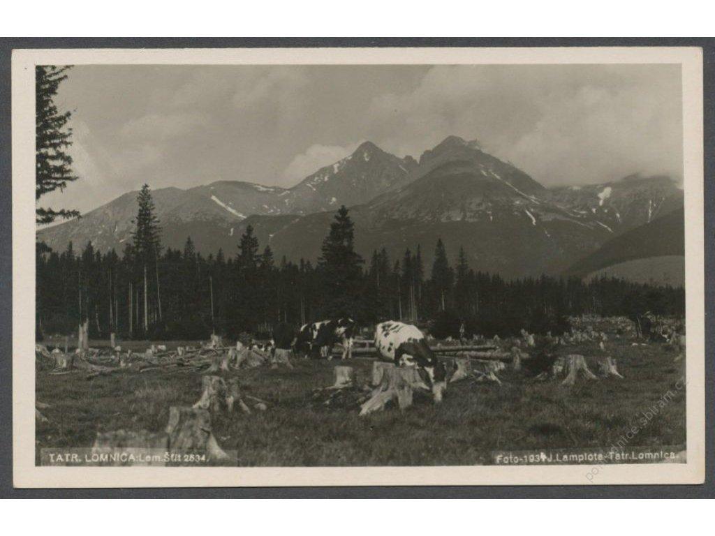 Slovensko, Tatr. Lomnica, Celkový pohled, cca 1930