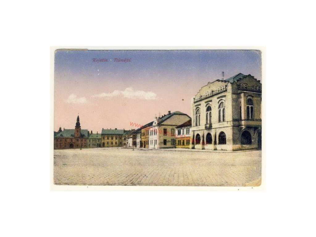 53 - Přerovsko, Kojetín, náměstí, nákl. F. Ježek, cca 1913