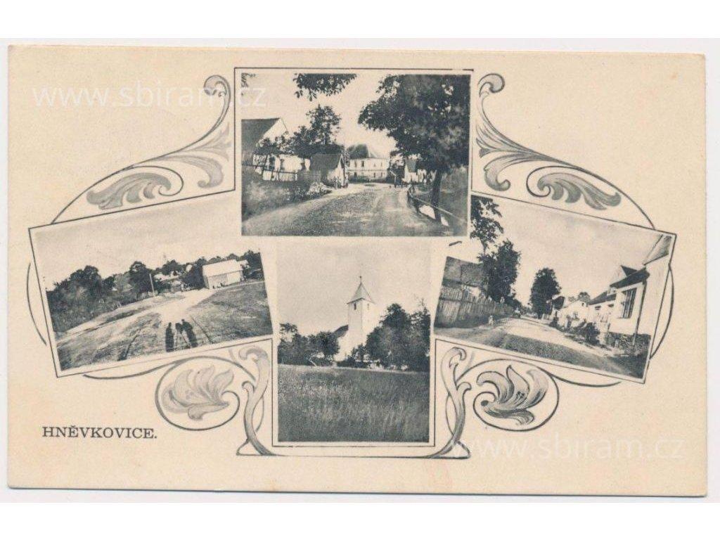 17 - Havlíčkobrodsko, Hněvkovice, 4 - záběr dominant obce, cca 1931