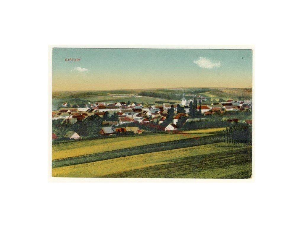 33 - Litoměřicko, Hoštka, Gastorf, celkový pohled na město, cca 1925
