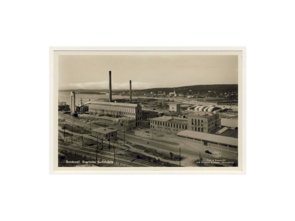 Sverige, Sundsvall, Svartviksfabrik, Förlag Sunessons, ca 1935