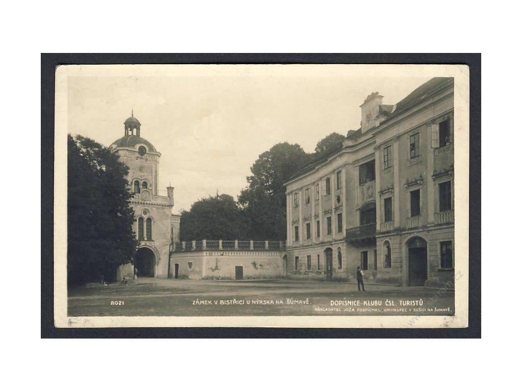 28 - Šumava, zámek v Bistřici u Nýrska, foto Fon, cca 1925
