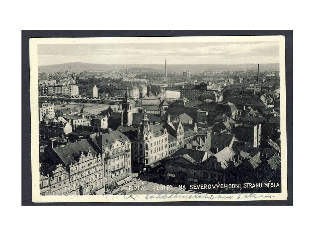 47 - Plzeň, pohled na severovýchodní stranu města, cca 1939