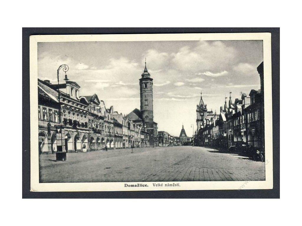 15 - Domažlice, velké náměstí, cca 1936