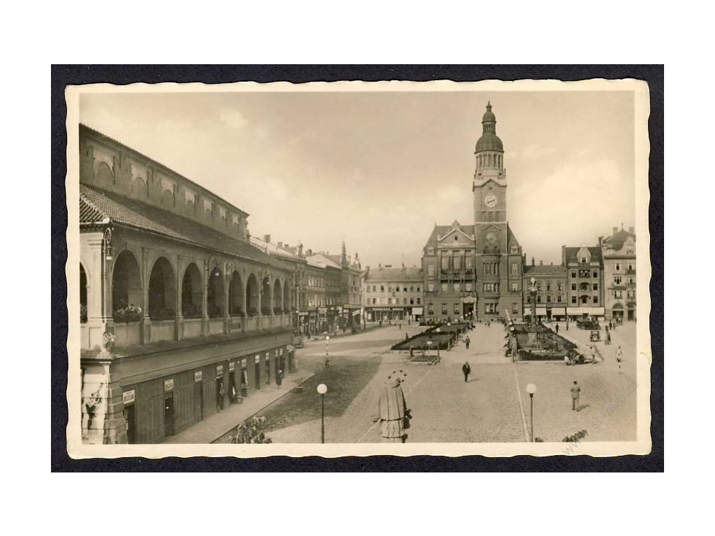52 - Prostějov, Masarykovo náměstí, radnice, museum, cca 1935