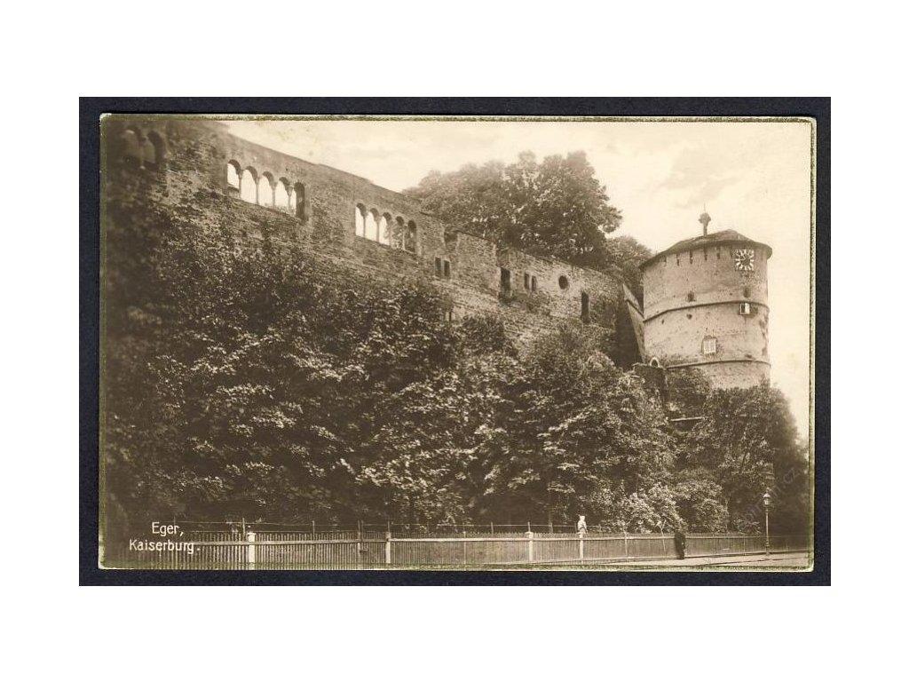"""08 - Cheb, Kaiserburg, nakl. """"Egerland"""", Eger, cca 1935"""