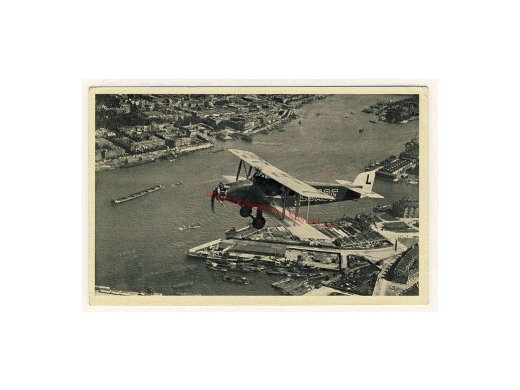 Letecká výherní pohlednice, ca 1938