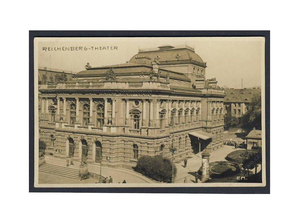 32 - Liberec, divadlo (Reichenberg), cca 1930