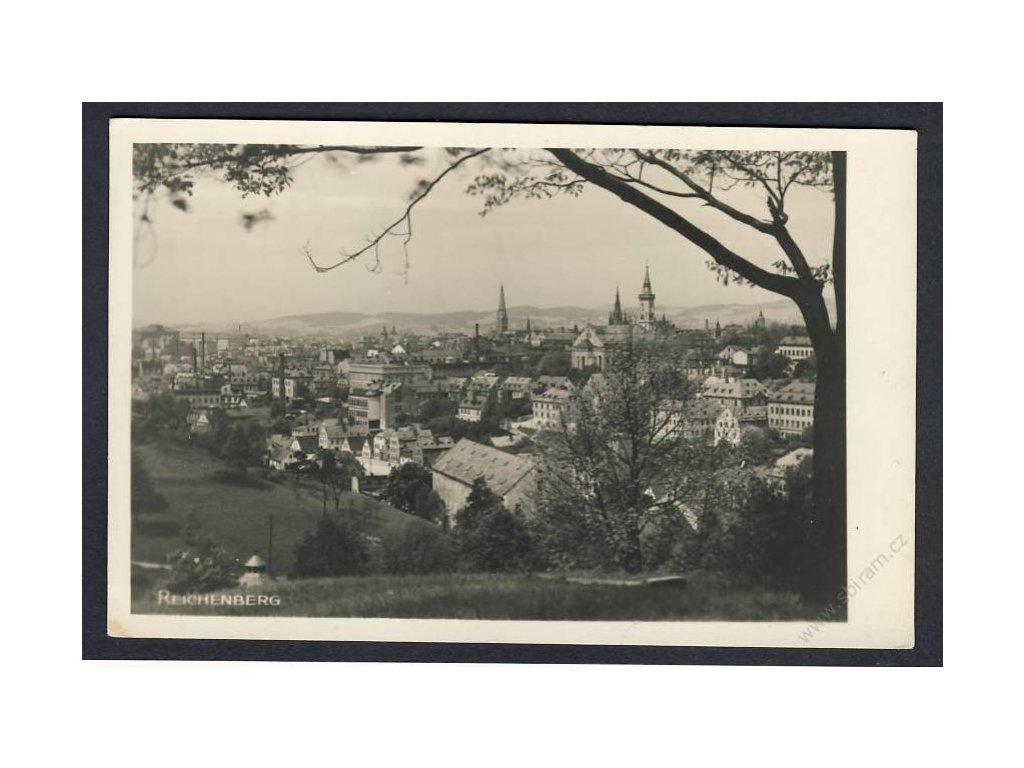 32 - Liberec (Reichenberg), pohled na město, cca 1930