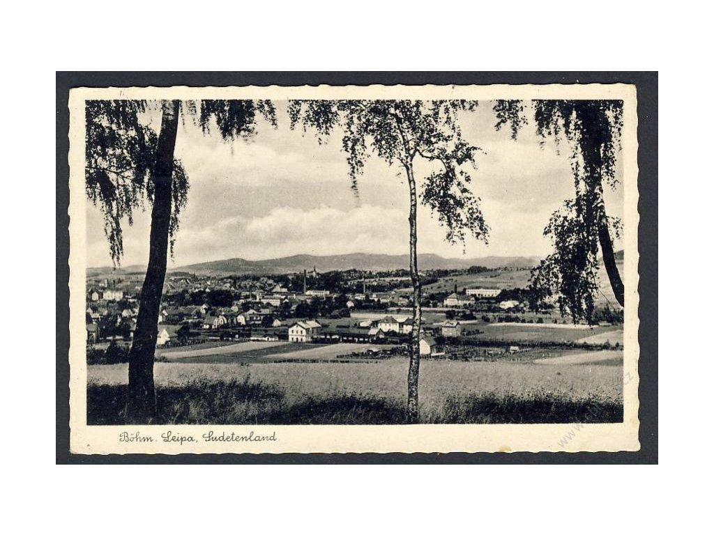 11 - Českolipsko (Böhmisch Leipa), sudetské území (Sudetenland), cca 1942