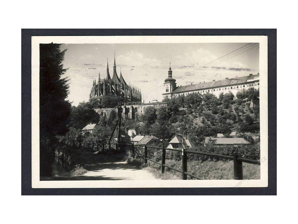 31 - Kutná hora, pohled na Chrám sv. Barbory, cca 1942