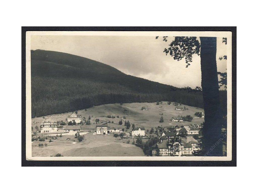 66 - Trutnovsko, Krkonoše, Špindlerův mlýn (Spindler Mühle), Grandhotel, Hohewarte, cca 1933
