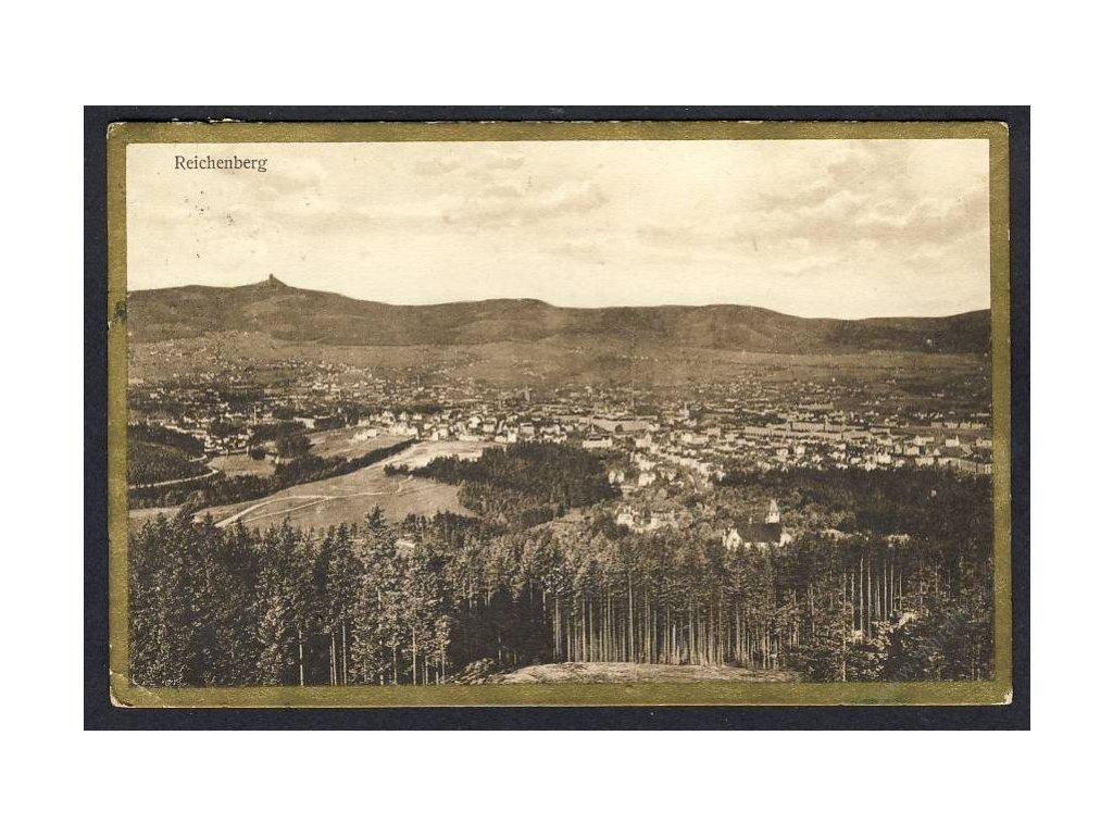 32 - Liberec (Reichenberg), pohled na město, cca 1935