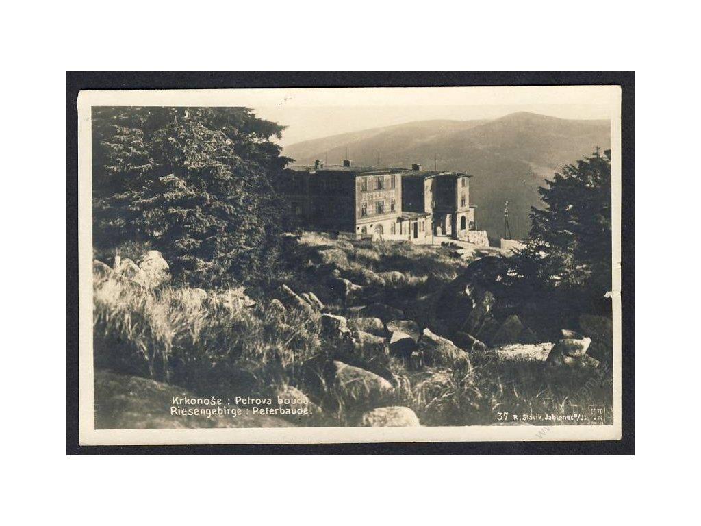 66 - Trutnovsko, Krkonoše, Petrova Bouda (Riesengebirge, Peterbaude), Foto Fon, cca 1935