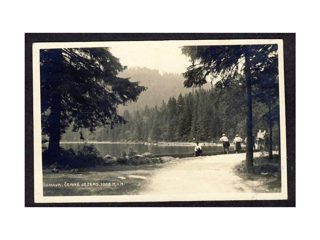 28 - Šumava, Černé jezero, foto Seidel, cca 1923