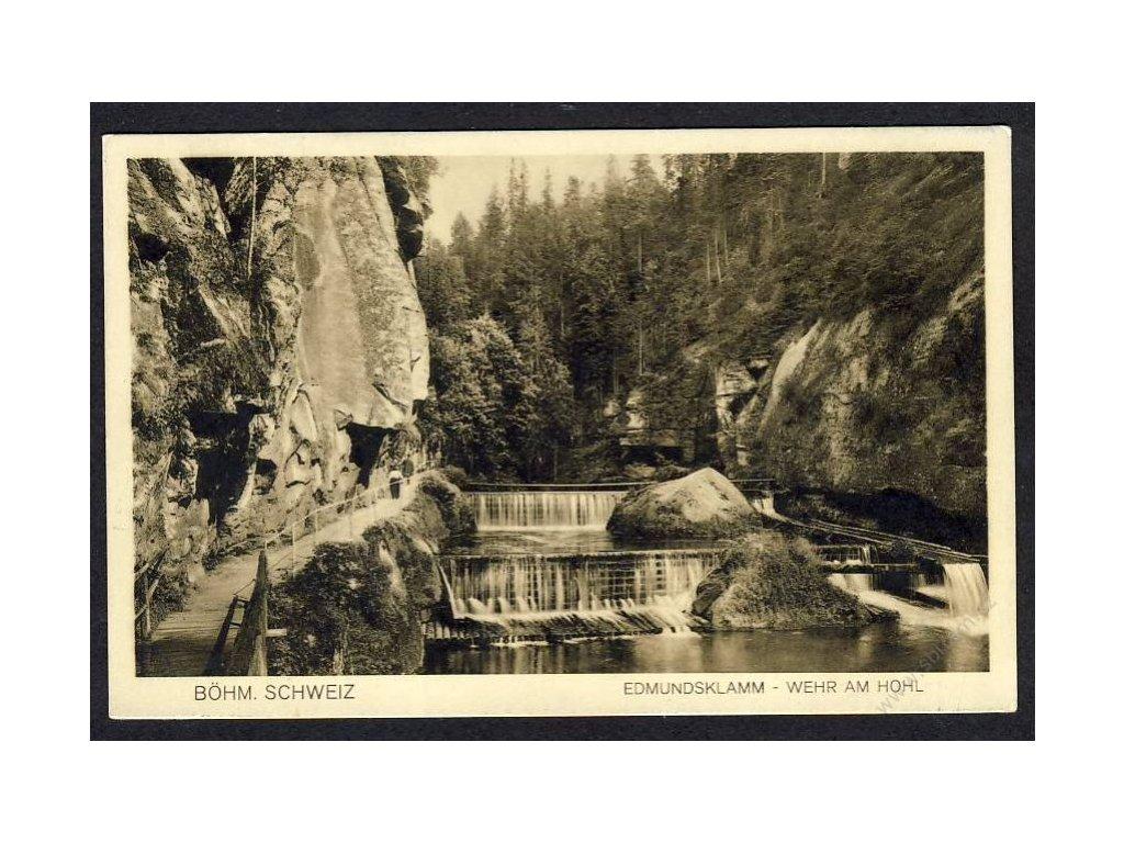 14 - Děčínsko, České Švýcarsko, Edmundova soutězka (Edmundsklamm), cca 1930