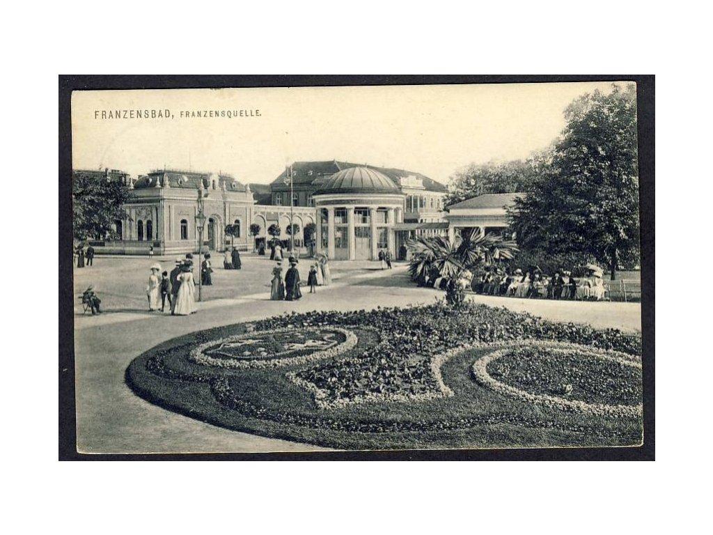 08 - Chebsko, Františkovy lázně (Franzensbad), Františkův pramen, cca 1910