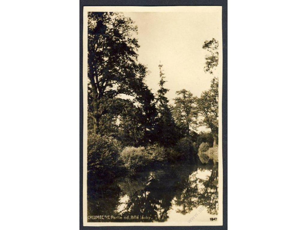 19 - Hradeckokrálové, Chlumec nad Cidlinou, partie od Bílé lávky, foto Fon, cca 1925
