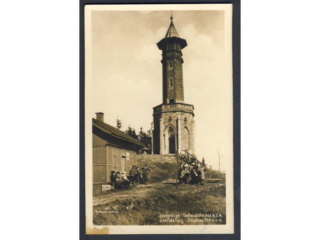 32 - Liberecko, Jizerské hory, (Isergebirge), Štěpánka (Stephanshöhe), foto Fon, cca 1925