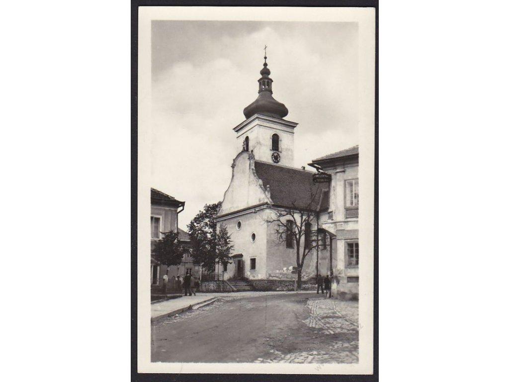 48 - Prachaticko, Volary, Náměstí Svobody, cca 1950