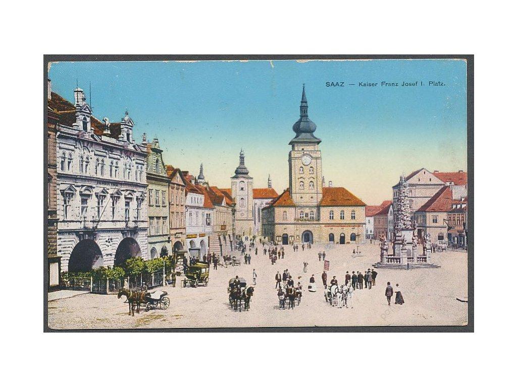 34 - Lounsko, Žatec, náměstí, ca 1915