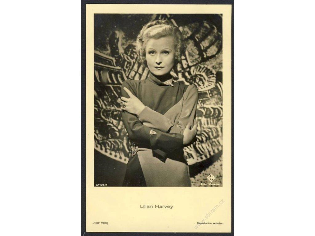 Herečka, Lilian Harvey, foto Hämmerer, cca 1930
