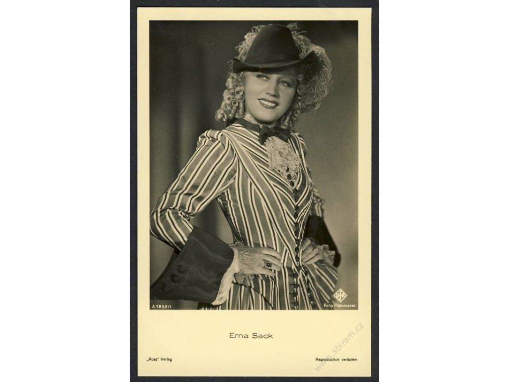 Herečka, Erna Sack, foto Hämmerer, cca 1930