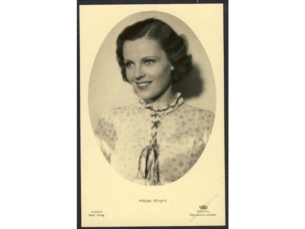 Herečka, Hilde Krahl, foto Styria-Film, cca 1930