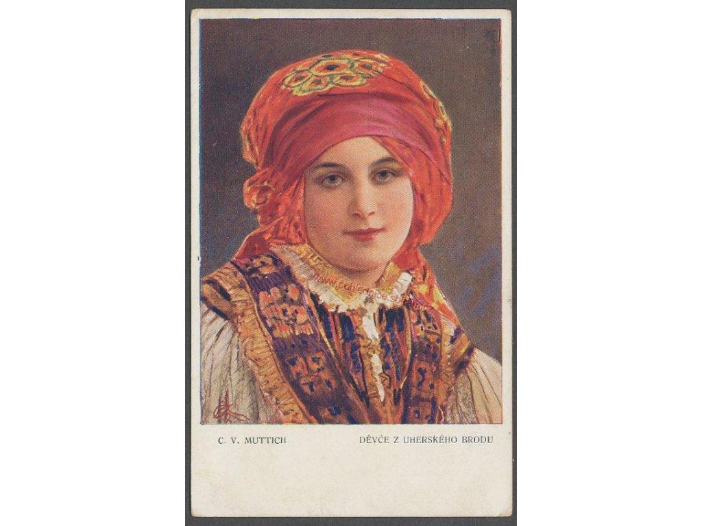 C.V.Muttich, Děvče z Uh.Brodu, ca 1915