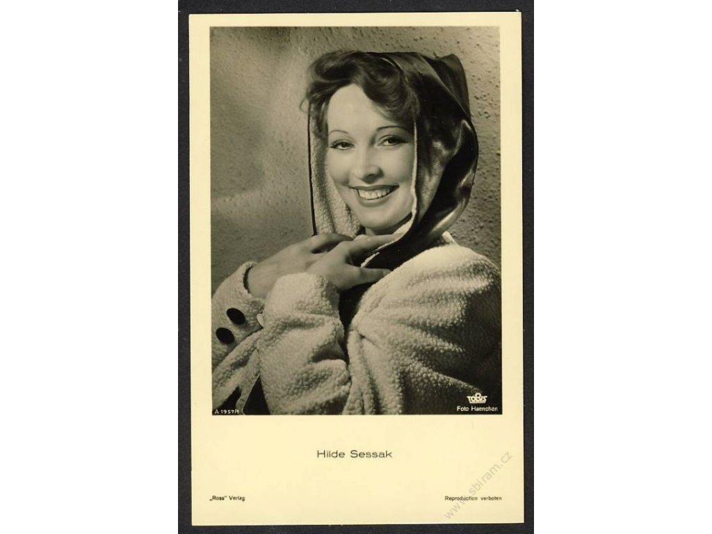 Herečka, Hilde Sessak, foto Haencher, cca 1930
