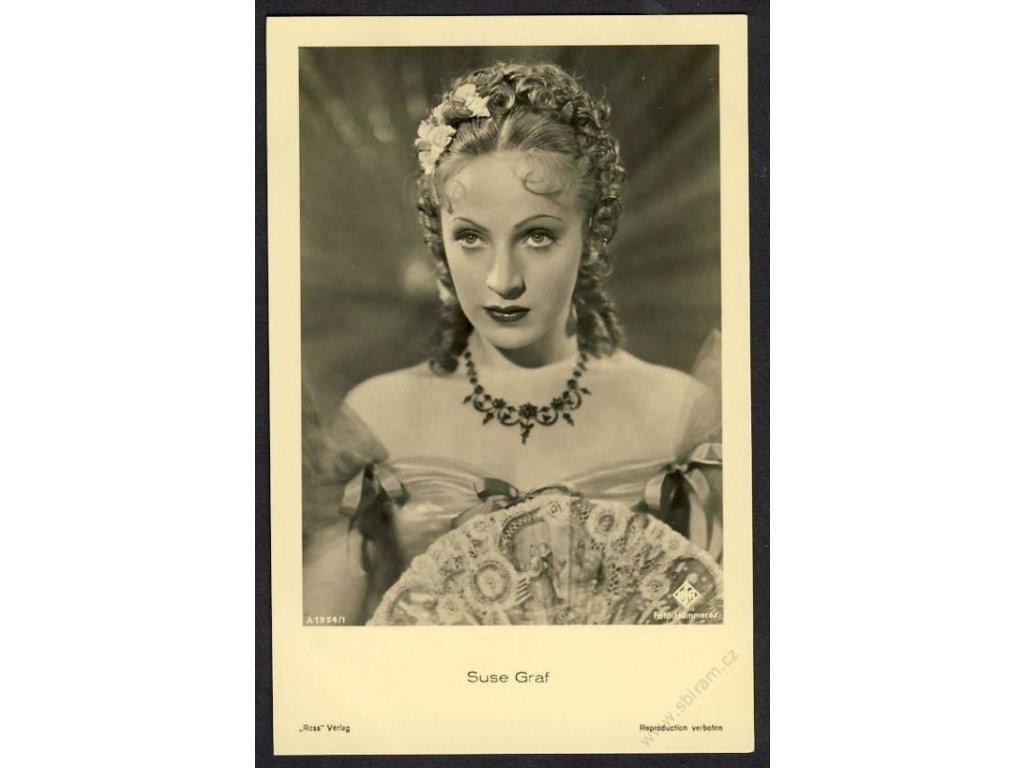 Herečka, Suse Graf, foto Hämmerer, cca 1930