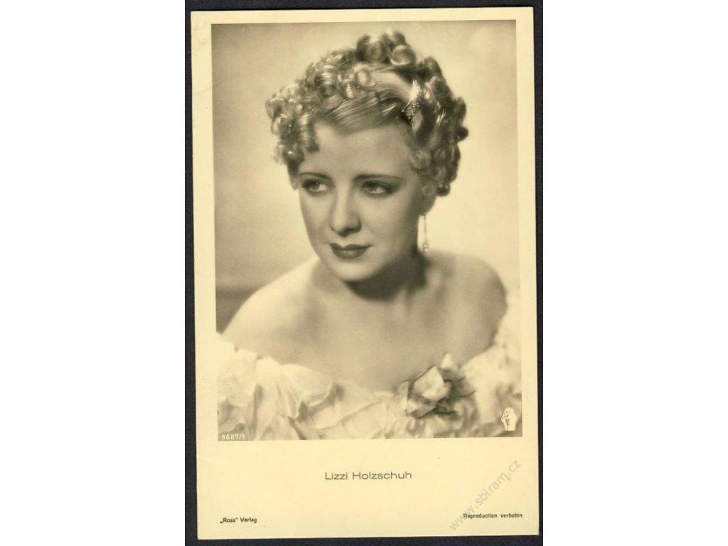 "Herečka, Lizzi Holzsuch, verlag ""Ross"", cca 1930"