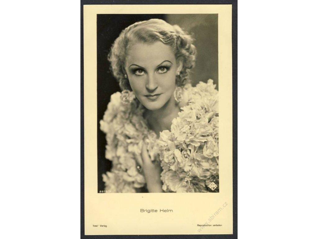 Herečka, Brigitte Helm, foto UFA, cca 1930