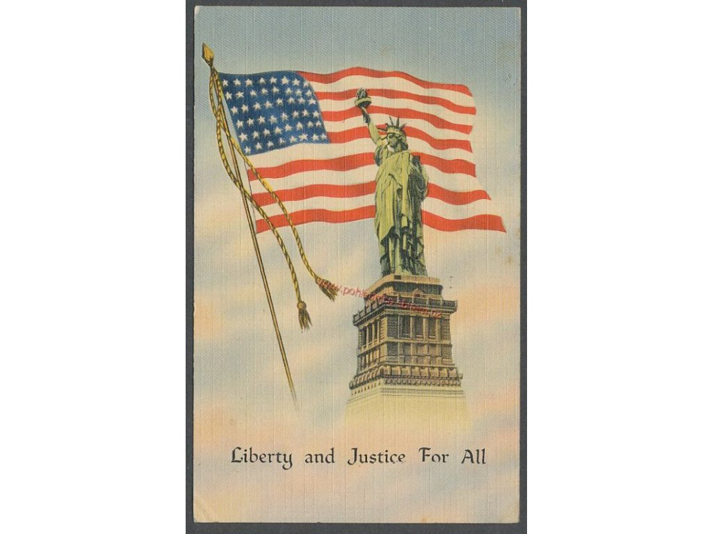 USA, Liberty and Justice For All, cca 1947