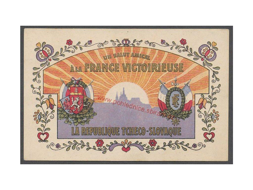 Francie, ČSR, propaganda, vyd.Perun, cca 1918
