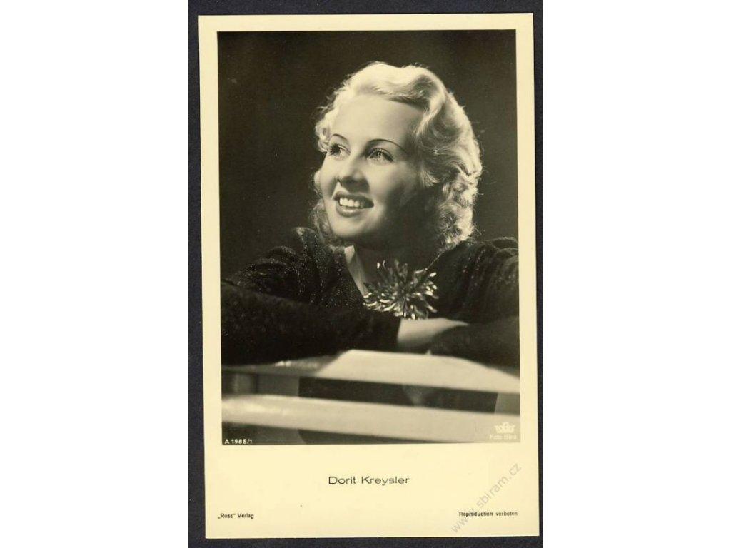 Herečka, Dorit Kreysler, foto Binz, cca 1930