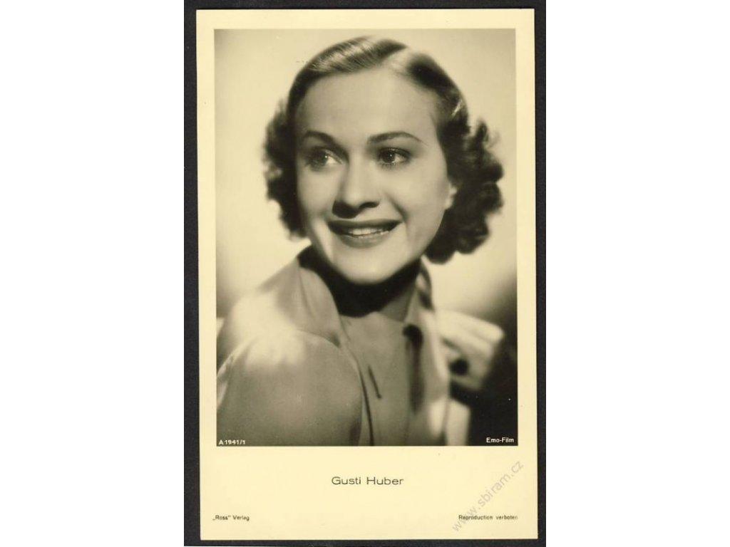 Herečka, Gusti Huber, foto Emo-Film, cca 1930